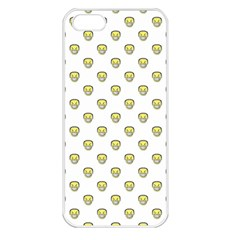 Angry Emoji Graphic Pattern Apple iPhone 5 Seamless Case (White)