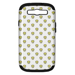 Angry Emoji Graphic Pattern Samsung Galaxy S III Hardshell Case (PC+Silicone)