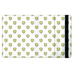 Angry Emoji Graphic Pattern Apple iPad 3/4 Flip Case