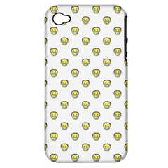Angry Emoji Graphic Pattern Apple iPhone 4/4S Hardshell Case (PC+Silicone)
