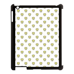 Angry Emoji Graphic Pattern Apple iPad 3/4 Case (Black)