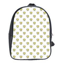 Angry Emoji Graphic Pattern School Bags (XL)