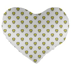 Angry Emoji Graphic Pattern Large 19  Premium Heart Shape Cushions