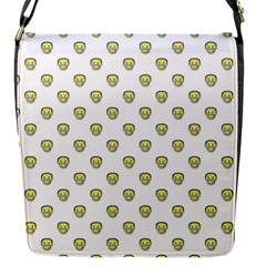 Angry Emoji Graphic Pattern Flap Messenger Bag (S)