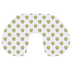 Angry Emoji Graphic Pattern Travel Neck Pillows