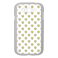 Angry Emoji Graphic Pattern Samsung Galaxy Grand DUOS I9082 Case (White)