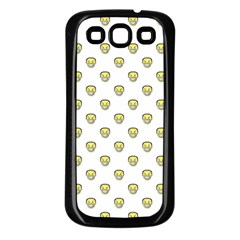 Angry Emoji Graphic Pattern Samsung Galaxy S3 Back Case (Black)