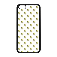 Angry Emoji Graphic Pattern Apple iPhone 5C Seamless Case (Black)