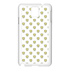 Angry Emoji Graphic Pattern Samsung Galaxy Note 3 N9005 Case (White)