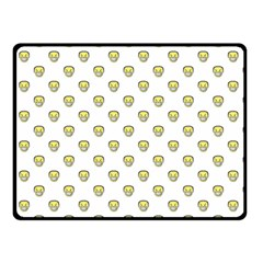 Angry Emoji Graphic Pattern Double Sided Fleece Blanket (Small)