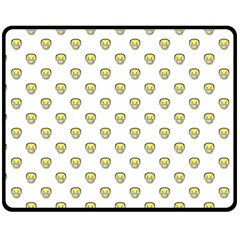 Angry Emoji Graphic Pattern Double Sided Fleece Blanket (Medium)