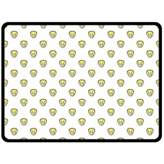 Angry Emoji Graphic Pattern Double Sided Fleece Blanket (Large)