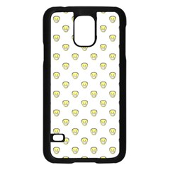 Angry Emoji Graphic Pattern Samsung Galaxy S5 Case (Black)