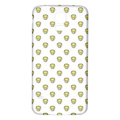 Angry Emoji Graphic Pattern Samsung Galaxy S5 Back Case (White)