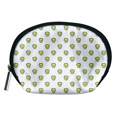 Angry Emoji Graphic Pattern Accessory Pouches (Medium)