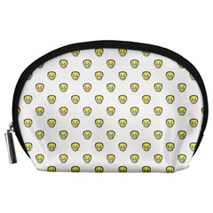 Angry Emoji Graphic Pattern Accessory Pouches (Large)