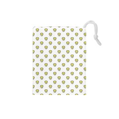 Angry Emoji Graphic Pattern Drawstring Pouches (Small)