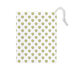 Angry Emoji Graphic Pattern Drawstring Pouches (Large)