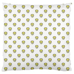 Angry Emoji Graphic Pattern Large Flano Cushion Case (Two Sides)