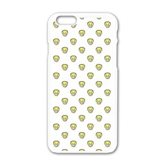 Angry Emoji Graphic Pattern Apple iPhone 6/6S White Enamel Case
