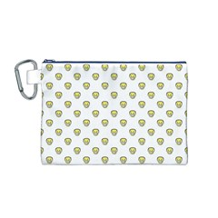 Angry Emoji Graphic Pattern Canvas Cosmetic Bag (M)