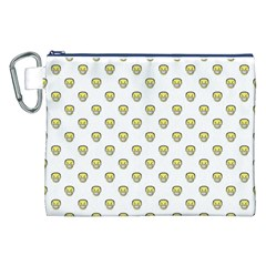 Angry Emoji Graphic Pattern Canvas Cosmetic Bag (XXL)