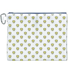 Angry Emoji Graphic Pattern Canvas Cosmetic Bag (XXXL)