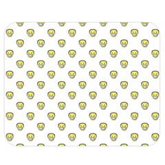 Angry Emoji Graphic Pattern Double Sided Flano Blanket (Medium)