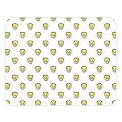 Angry Emoji Graphic Pattern Double Sided Flano Blanket (Large)