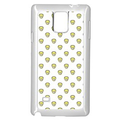 Angry Emoji Graphic Pattern Samsung Galaxy Note 4 Case (White)
