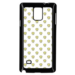 Angry Emoji Graphic Pattern Samsung Galaxy Note 4 Case (Black)