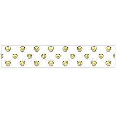 Angry Emoji Graphic Pattern Flano Scarf (Large)