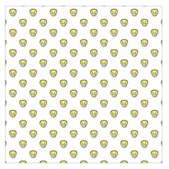 Angry Emoji Graphic Pattern Large Satin Scarf (Square)