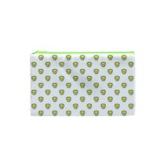 Angry Emoji Graphic Pattern Cosmetic Bag (XS)