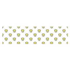 Angry Emoji Graphic Pattern Satin Scarf (Oblong)