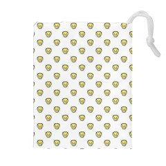 Angry Emoji Graphic Pattern Drawstring Pouches (Extra Large)