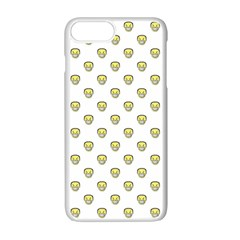 Angry Emoji Graphic Pattern Apple iPhone 7 Plus White Seamless Case