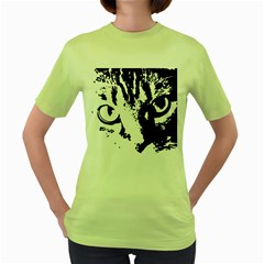 Cat Women s Green T-Shirt