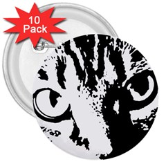 Cat 3  Buttons (10 pack)