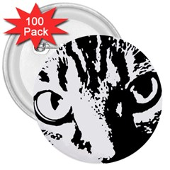 Cat 3  Buttons (100 pack)