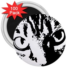 Cat 3  Magnets (100 pack)