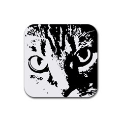 Cat Rubber Square Coaster (4 pack)