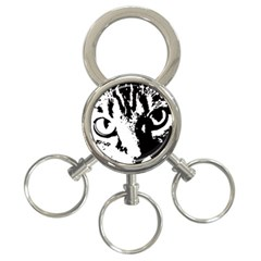 Cat 3-Ring Key Chains