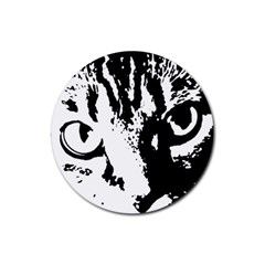 Cat Rubber Coaster (Round)