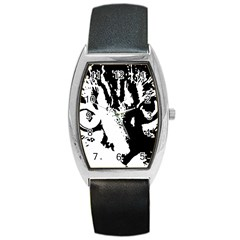 Cat Barrel Style Metal Watch