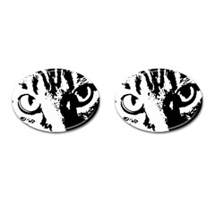 Cat Cufflinks (Oval)