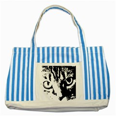 Cat Striped Blue Tote Bag