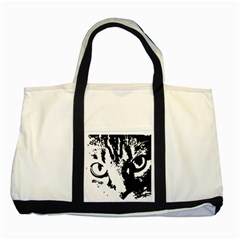 Cat Two Tone Tote Bag