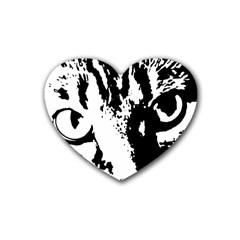 Cat Rubber Coaster (Heart)