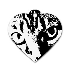 Cat Dog Tag Heart (One Side)